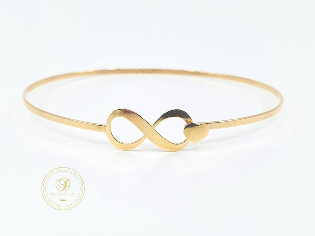 Náramek, žluté zlato, symbol nekonečno