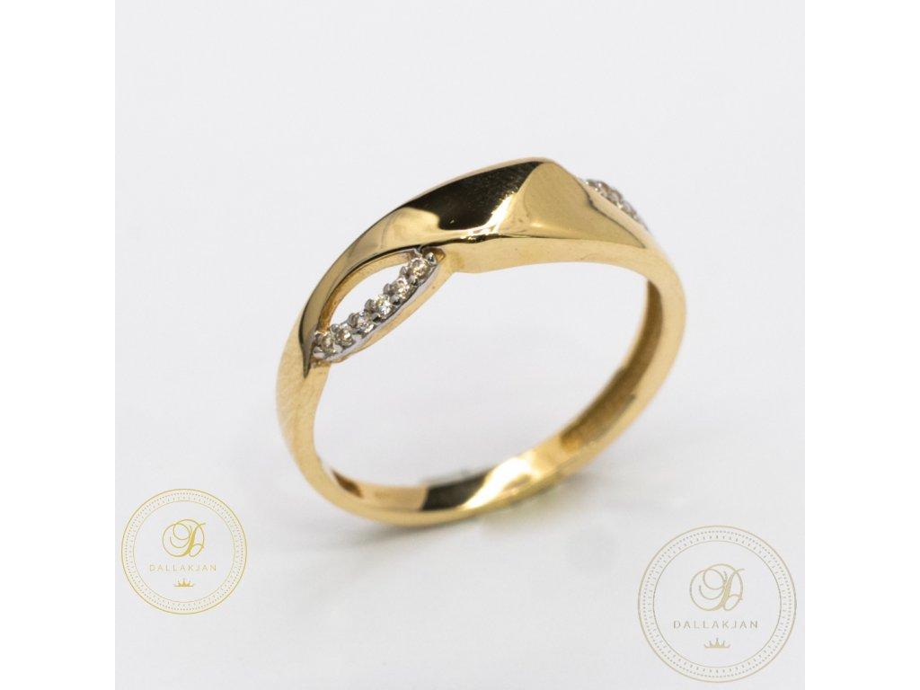 Decentní Dámský prsten ze žlutého zlata (Velikost 55)