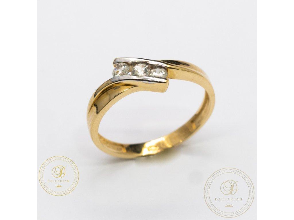 Decentní Dámský prsten zdobený zirkonem (Velikost 57)