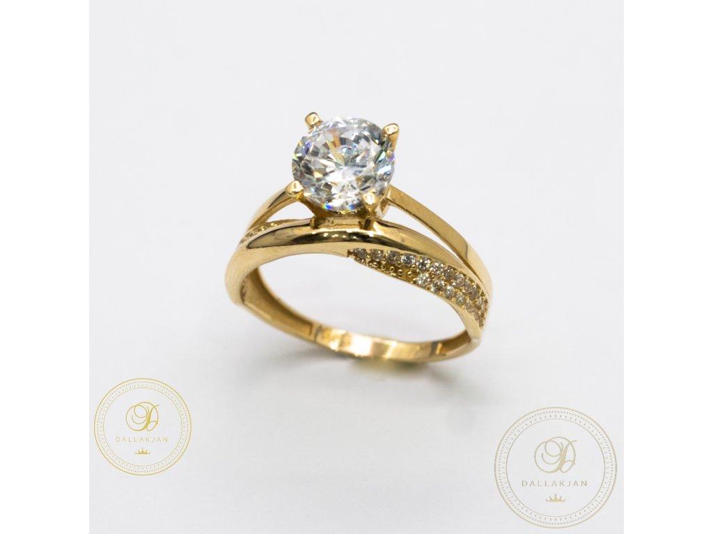 Moderní zásnubní prsten se zirkonem (Velikost 58)