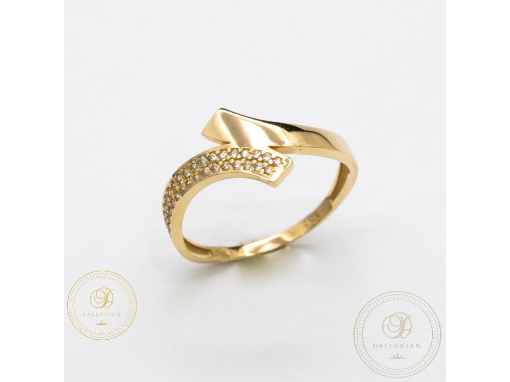 Dámský zlatý prsten ze žlutého zlata (Velikost 56)
