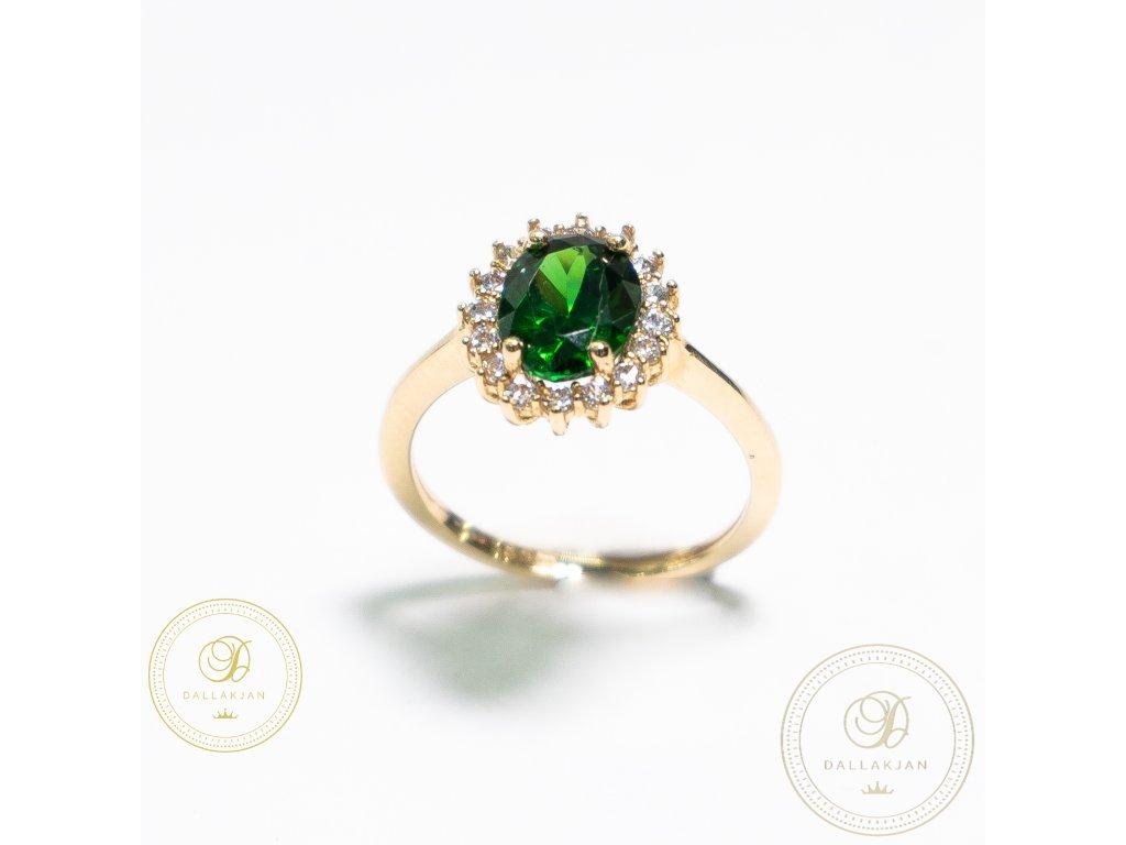 Krásný dámský prsten zdobený zirkonem (Velikost 55)