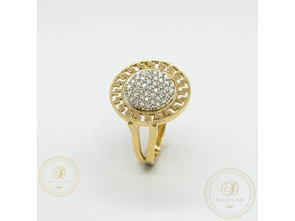 Krásný dámský prsten zdobený zirkonem (Velikost 58)