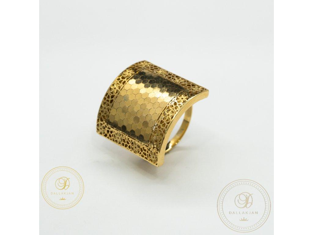 Krásný dámský prsten ze žlutého zlata (Velikost 61)