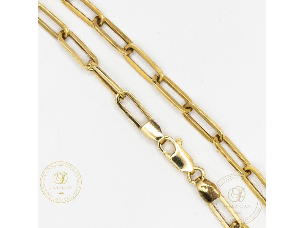 Panský zlatý náramek ze žlutého zlata (Délka 22)
