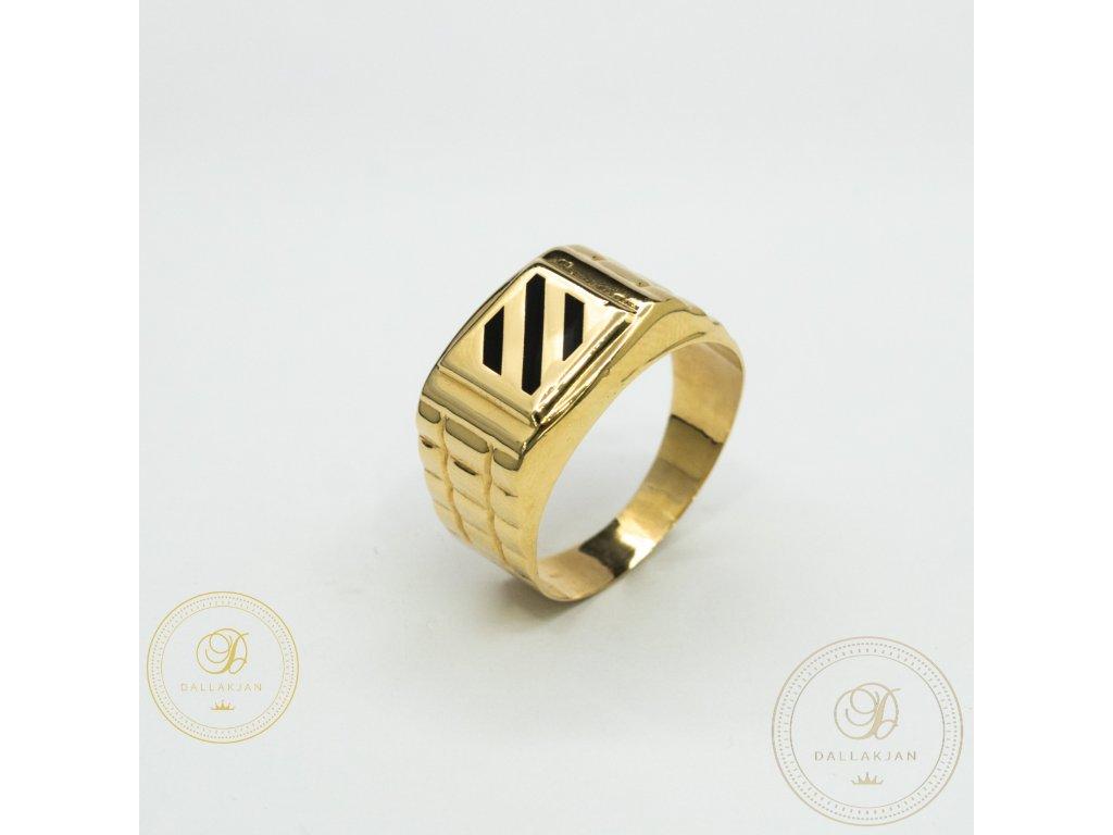 Pánský zlatý prsten ze žlutého zlata (Velikost 64)