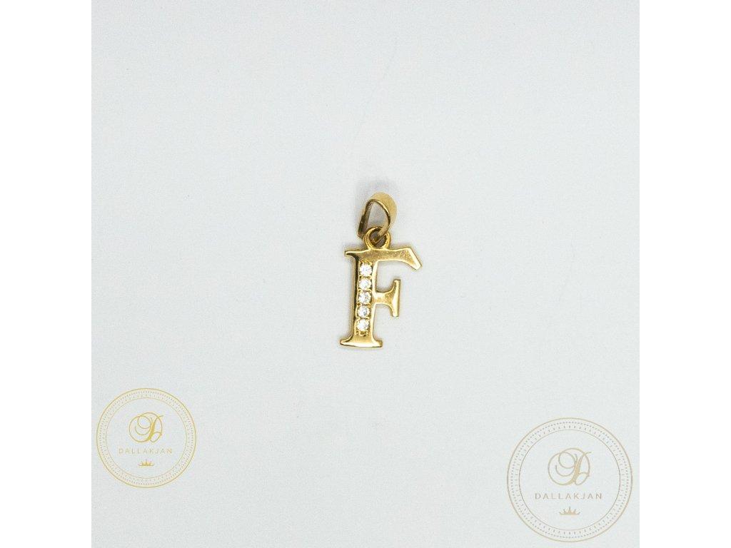 957 privesek f ze zluteho zlata zdobeny zirkonem