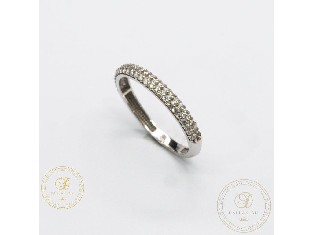 Dámský zlatý prsten zdobený zirkonem (Velikost 54)