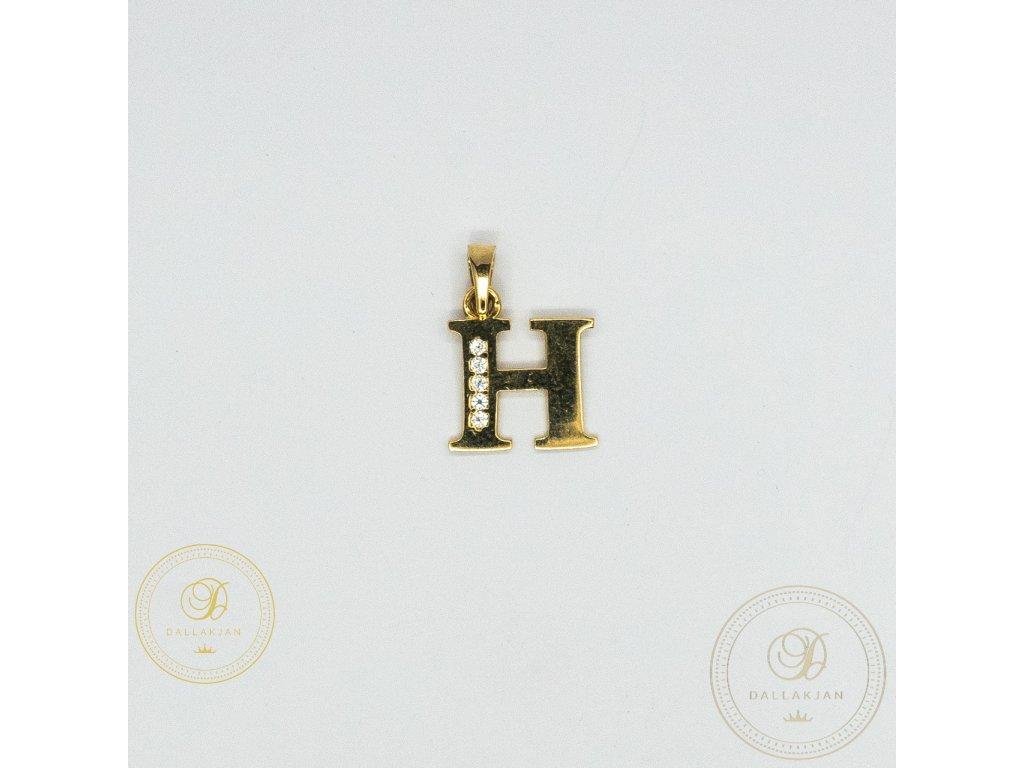 975 privesek h ze zluteho zlata zdobeny zirkonem
