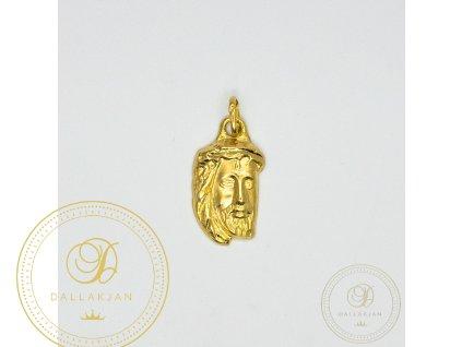 1050 privesek hlava jezise ze zluteho zlata