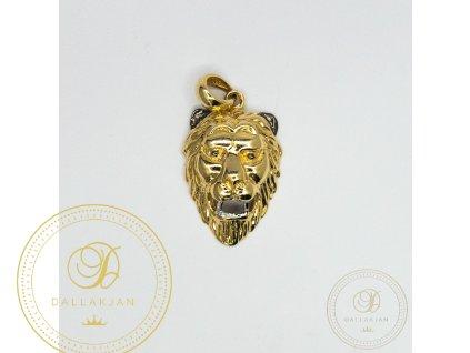 1098 privesek tygr ze zluteho a bileho zlata