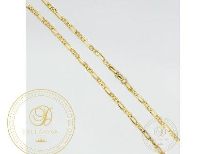 Zlatý řetízek Figaro ze žlutého zlata (Délka 45)