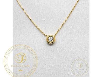 1299 zlaty retizek s priveskem se zirkonem