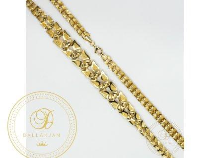 Dámský zlatý náhrdelník ze žlutého zlata (Délka 50)
