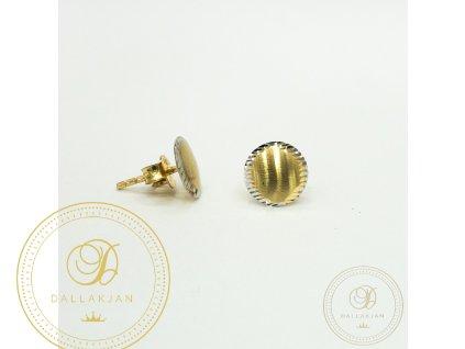 Náušnice pecky z kombinovaného zlata