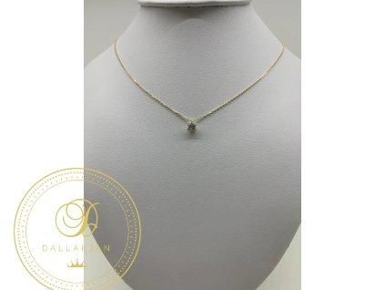 1412 zlaty retizek s priveskem zdobeny zirkonem