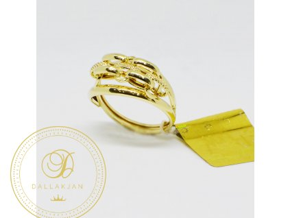 1529 prsten ze zluteho zlata ozdobeny