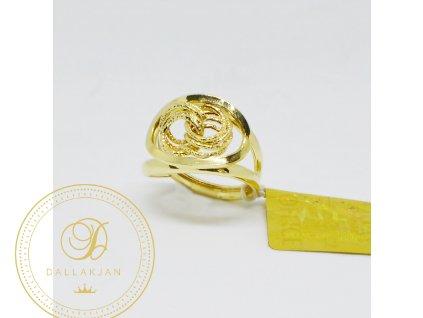 1532 prsten ze zluteho zlata s propletenymi ocky