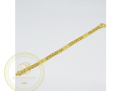 Náramek ze žlutého zlata (Délka 19 cm, Ryzost 585/1000)