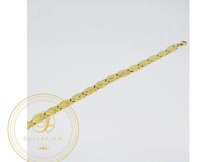 Náramek ze žlutého zlata (Délka 21 cm, Ryzost 585/1000)