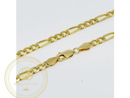Řetěz ze žlutého zlata (Velikost v cm 60)