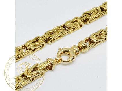 Řetěz ze žlutého zlata luxusní (Velikost v cm 64)