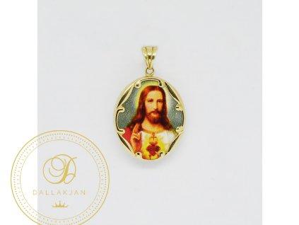1976 privesek zlute zlato jezis