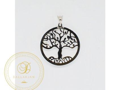 1994 privesek bile zlato strom zivota cerny