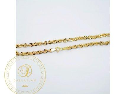 Náramek, žluté zlato (Délka 21 cm, Ryzost 585/1000)