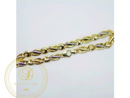 Náramek, kombinované zlato (Délka 20,5 cm, Ryzost 585/1000)