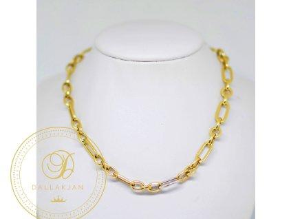 Řetízek, kombinované zlato (Délka 56 cm, Ryzost 585/1000)