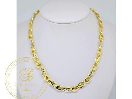 Náhrdelník, kombinované zlato (Délka 56 cm, Ryzost 585/1000)