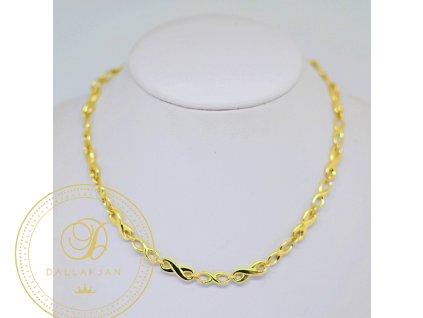 Náhrdelník Článkový, žluté zlato (Délka 50 cm, Ryzost 585/1000)