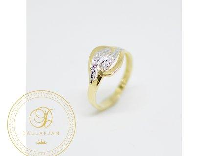 Prsten, kombinované zlato (Ryzost 585/1000, Velikost 62)