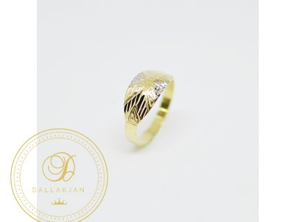 Prsten, kombinované zlato (Ryzost 585/1000, Velikost 56)
