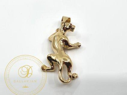 Přívěsek, žluté zlato, Panter (Ryzost 585/1000, Váha v g 7.35)