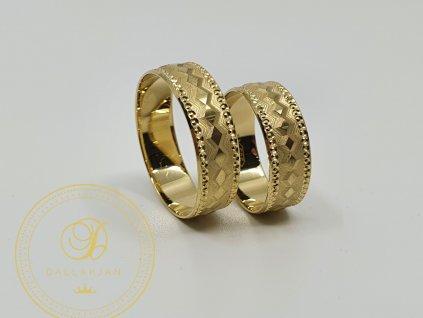 Snubní prsteny ze žlutého zlata (Velikost 63 55)