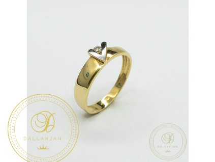 Decentní Zásnubní prsten se zirkonem (Velikost 53)