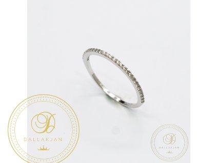 Dámský zlatý prsten zdobený zirkonem (Velikost 58)