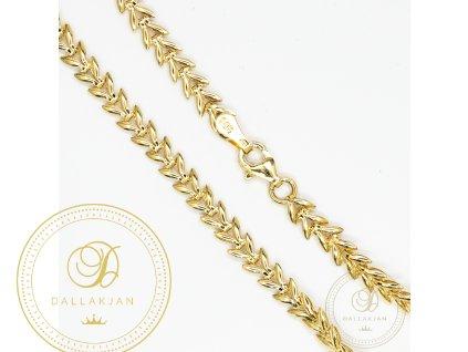 Krásný dámský zlatý náramek ze žllutého zlata (Délka 18)