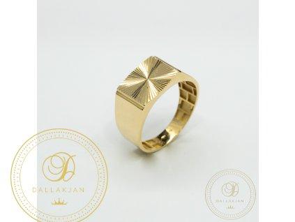 Decentní Pánský prsten ze žlutého zlata (Velikost 66)