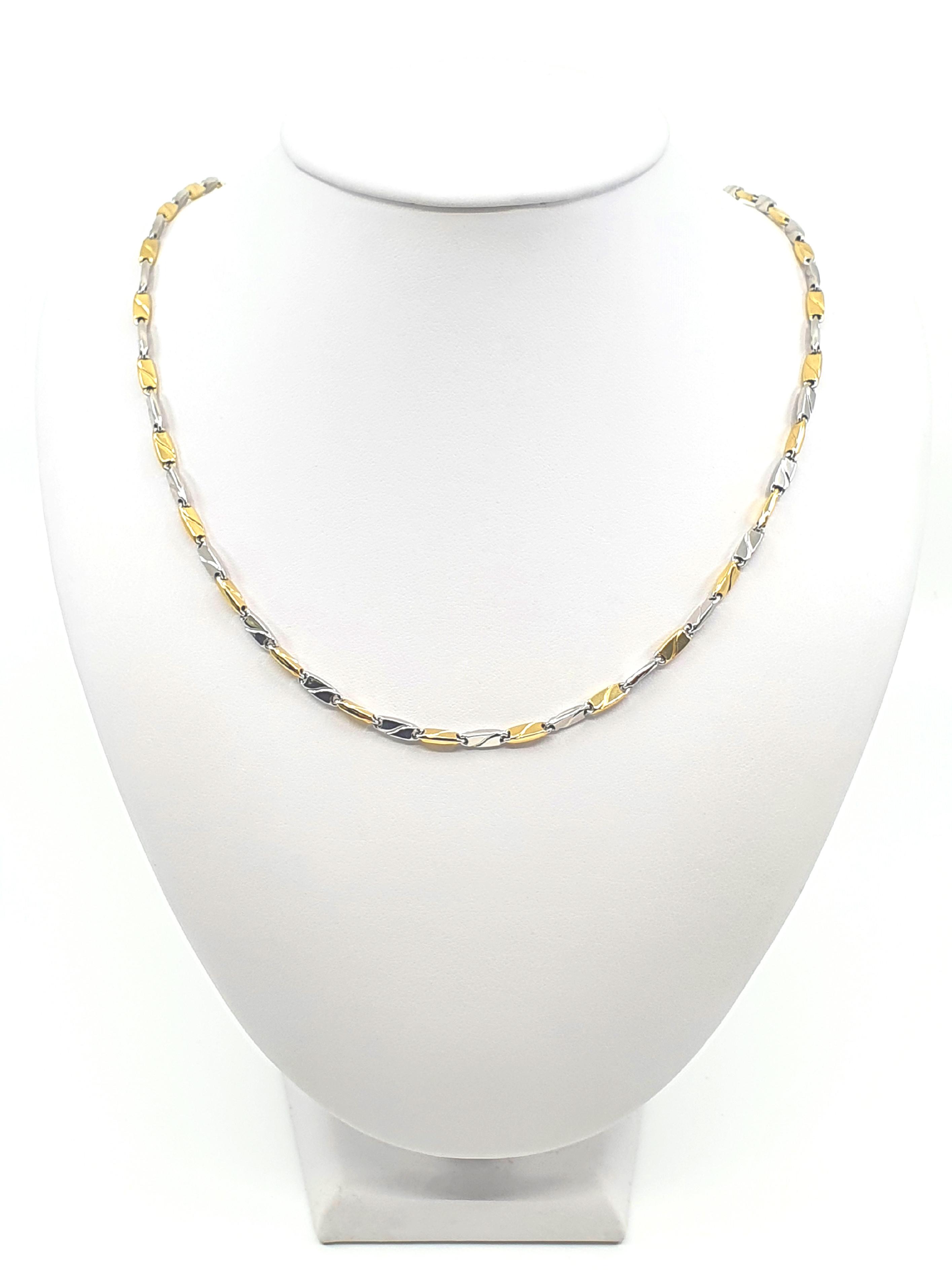 Řetízek, kombinované zlato Délka: 60 cm, Váha v g: 11,95, Ryzost: 585/1000