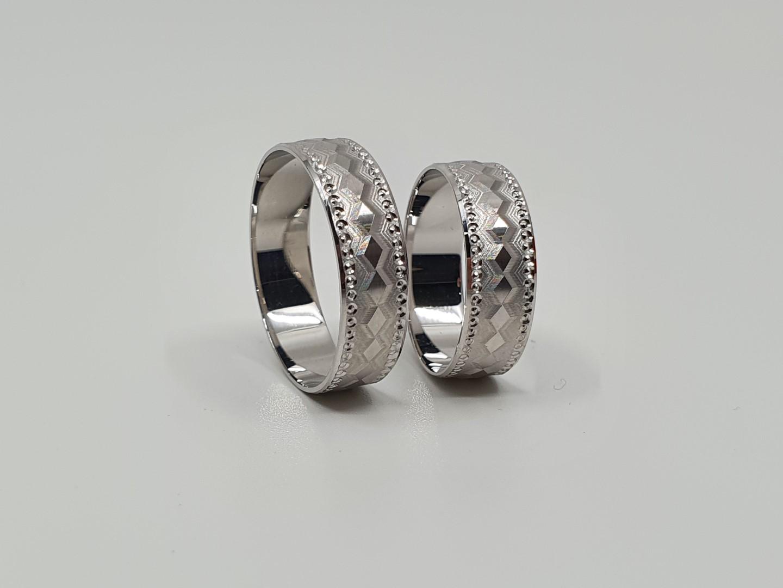 Zlatnictví Dallakjan Snubní prsteny , bílé zlato, vzory Velikost: 64 56, Váha v g: 5.7, Ryzost: 585/1000 291_64