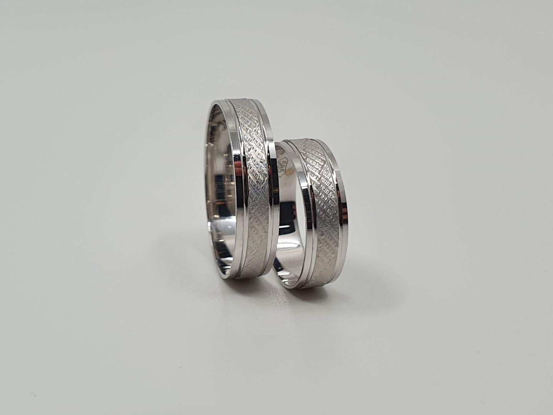 Zlatnictví Dallakjan Snubní prsteny, bílé zlato Velikost: 67 54, Váha v g: 4.56, Ryzost: 585/1000 294_67