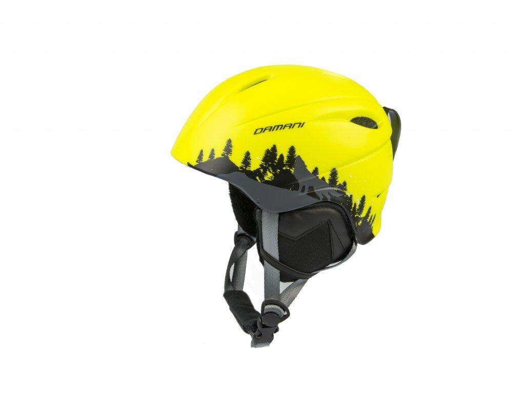 Dětská lyžařská helma Damani - Lion C01 - žlutá (Velikost M: 54 - 58)