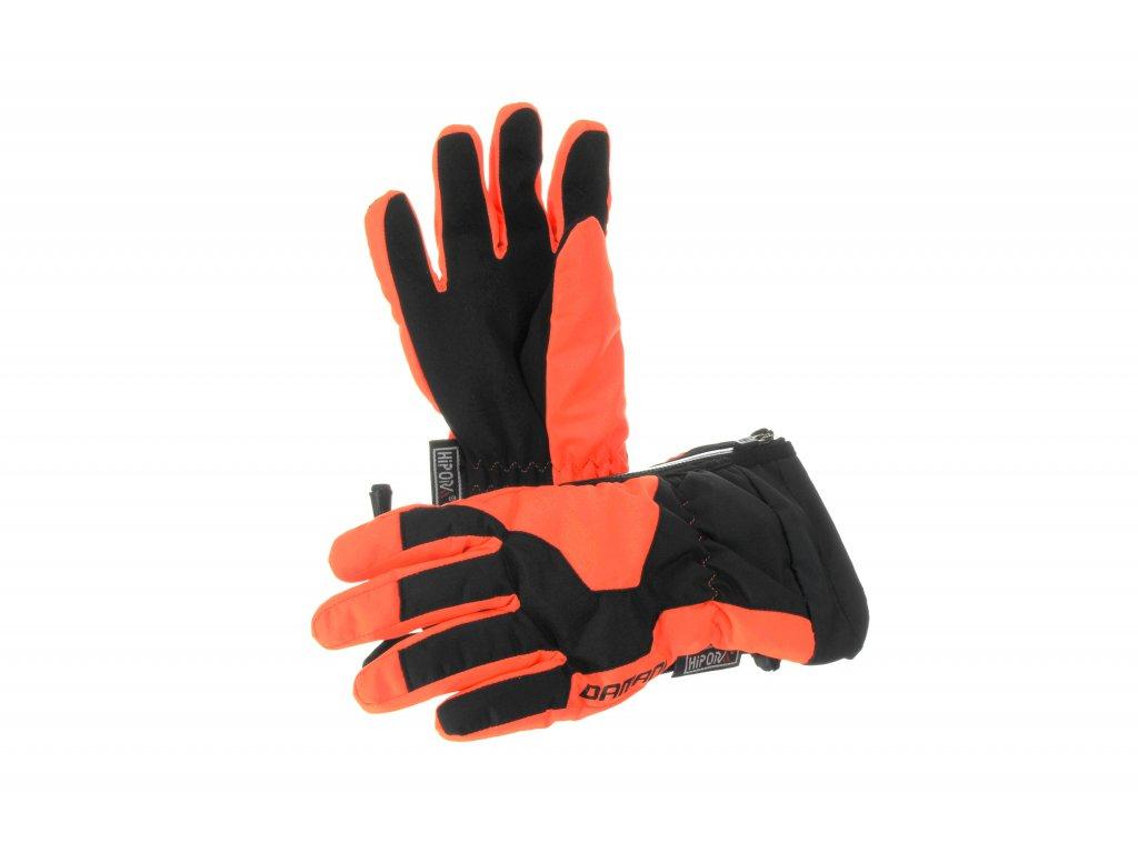 Dětské prstové rukavice Damani RC01 - reflexní oranžová (Velikost 10Y)