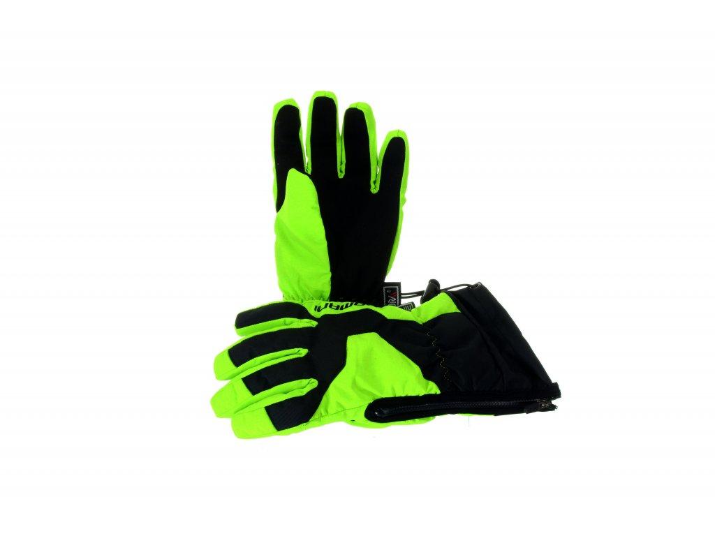 Dětské prstové rukavice Damani RC01 - reflexní zelená (Velikost 10Y)