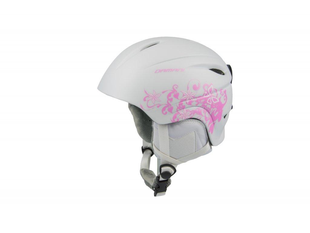 Dětská lyžařská helma Damani - Lion C01 - bílá (Velikost M: 54 - 58)