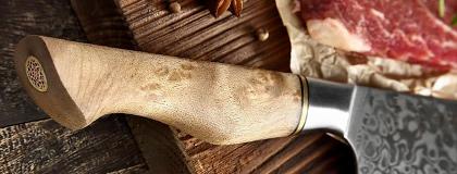 Materiály rukojetí kuchyňských nožů