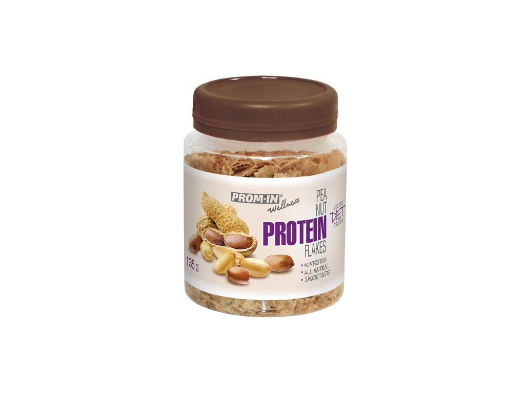 PROM-IN Peanut Protein Flakes 135g